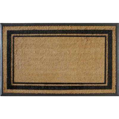 A1HC First Impression Markham Border Double Extra Large 30 in. x 48 in. Coir Door Mat
