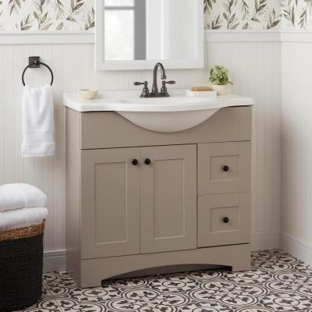 Mandouri 4 in. Centerset 2-Handle High-Arc Bathroom Faucet in Bronze
