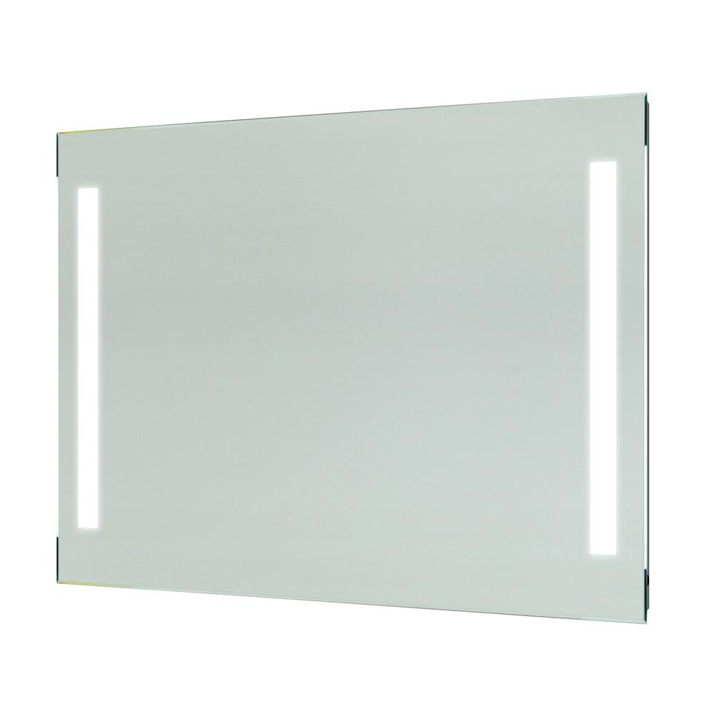 Vanity Art 36 in. x 28 in. White LED Lighted Wall Mirror with Sensor Switch, Clear was $232.0 now $185.6 (20.0% off)