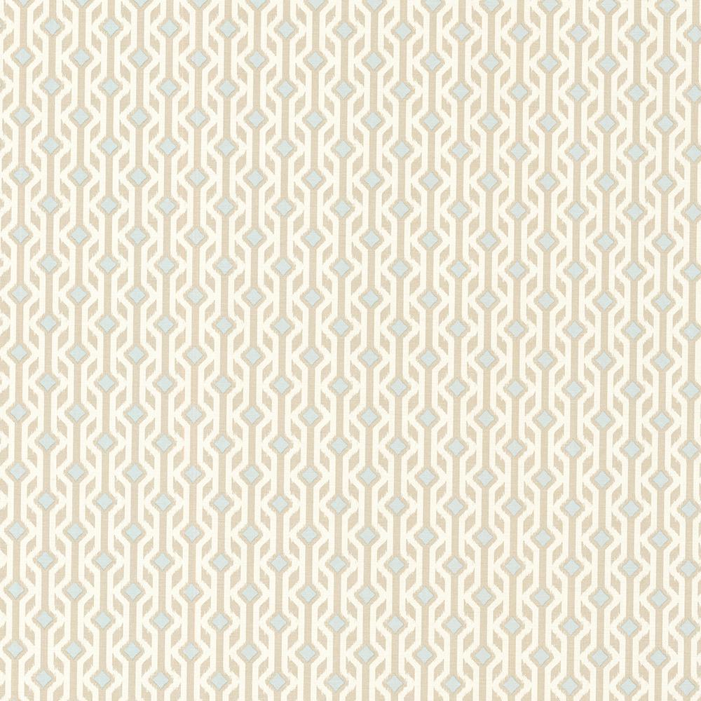 56.4 sq. ft. Emmett Beige Tribal Geometric Wallpaper