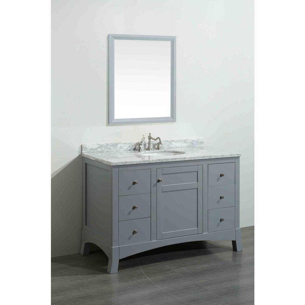 York Vanity Gray Marble Vanity Top White Basin