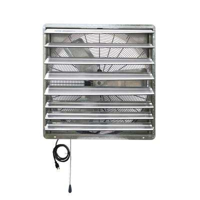 5088 CFM Silver Electric Powered Gable Mount Shutter Fan/Vent