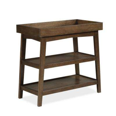 Harper Walnut Wood Baby Open Changing Table