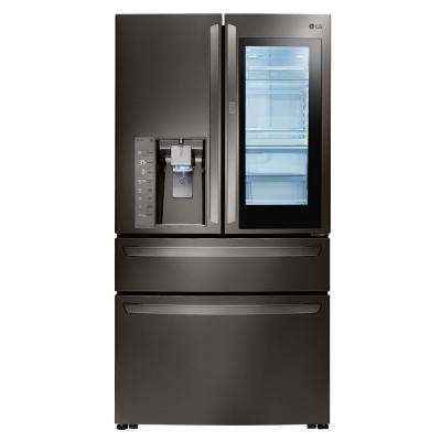30 cu. ft. 4-Door French Door Refrigerator with InstaView Door-in-Door in Black Stainless Steel