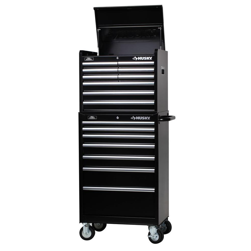Husky 27 in. W 16-Drawer Tool Chest and Cabinet Set