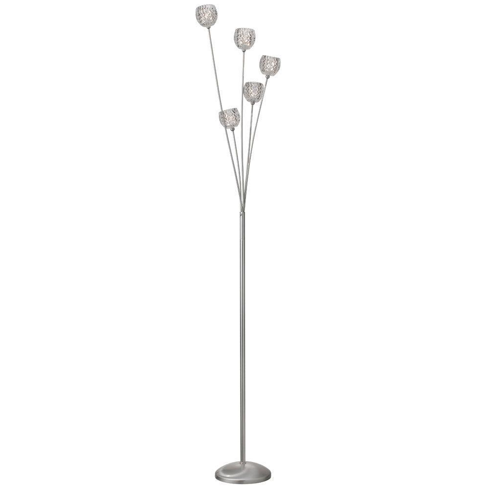 Filament Design Maillen 70 in. Satin Chrome Floor Lamp