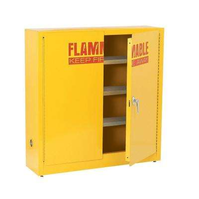 44 in. H x 43 in. W x 12 in. D Flammable Liquid Safety Wall Mounted Cabinet Storage in Yellow