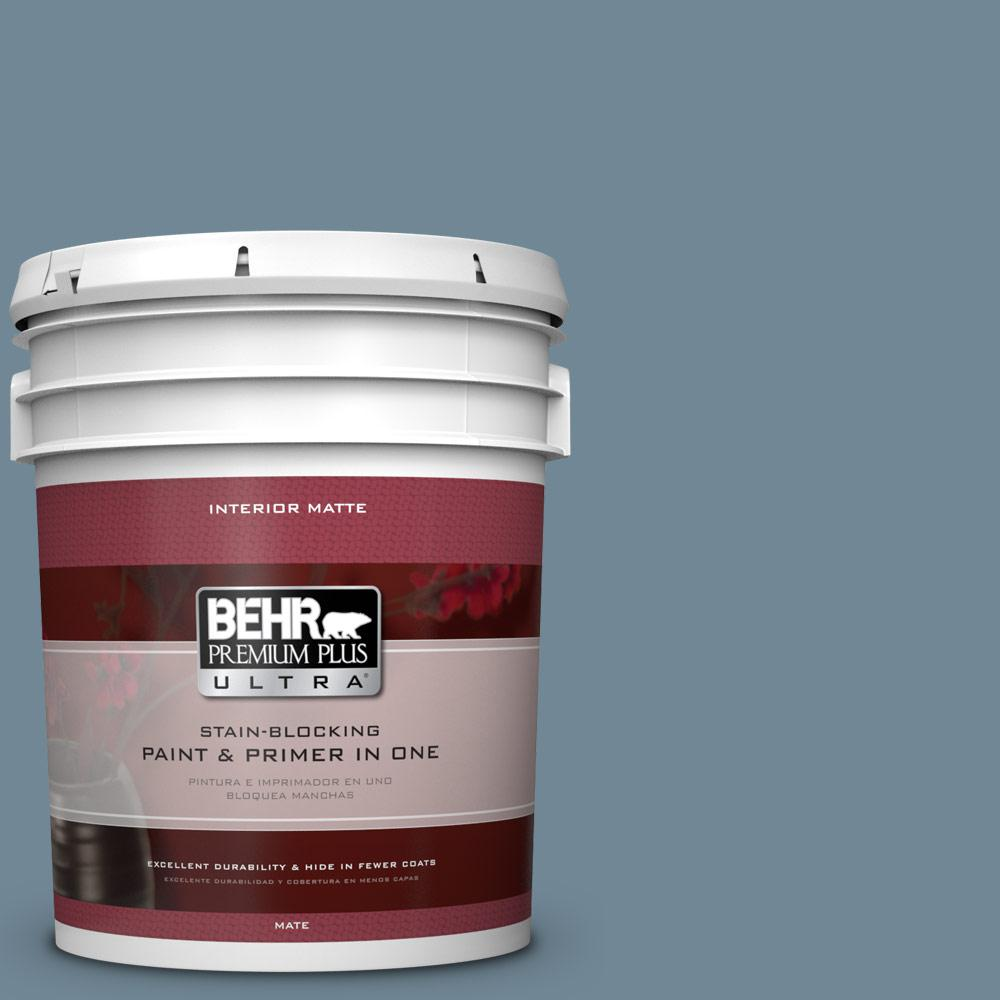 BEHR Premium Plus Ultra Home Decorators Collection 5 gal. #HDC-AC-24 Lyric Blue Flat/Matte Interior Paint