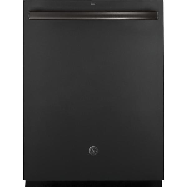 GE Top Control Dishwasher in Black Slate with Stainless Steel Tub and Steam Prewash, Fingerprint Resistant, 45 dBA