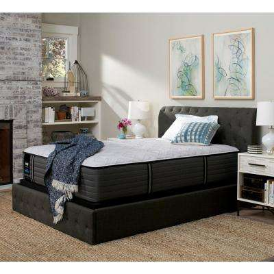 Response Premium 14.5 in. California King Plush Tight Top Mattress Set with 5 in. Low Profile Foundation