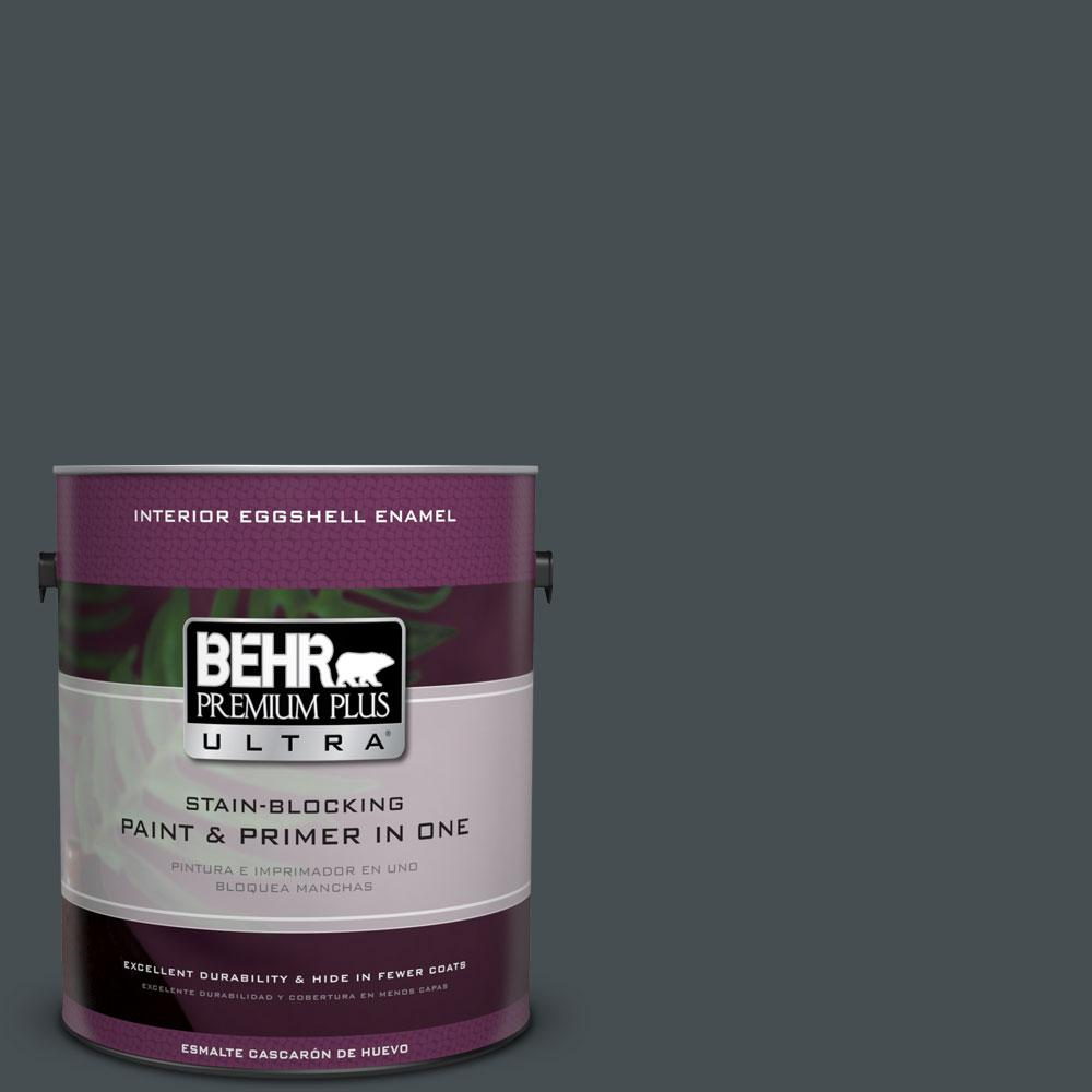 BEHR Premium Plus Ultra 1-gal. #720F-7 Dark As Night Eggshell Enamel Interior Paint
