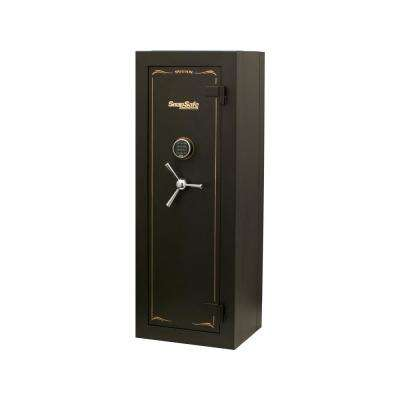 Titan Fire-Resistant 12-Gun Modular Safe with Electronic and Mechanical Lock Black