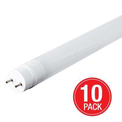 32-Watt Equivalent Cool White 4 ft. Linear T8 LED Light Bulb Maintenance Pack (10-Pack)