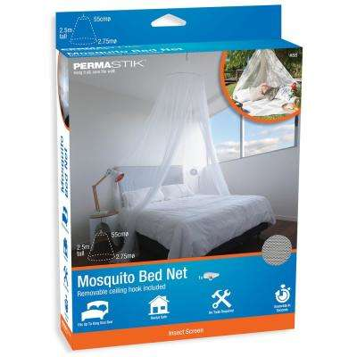 108 in. x 98 in. Mosquito Bed Net with Removable Ceiling Hook Included
