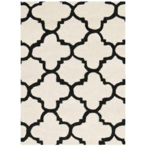 Safavieh Chatham Ivory Black 2 Ft X 3 Area Rug Cht717a The Home Depot