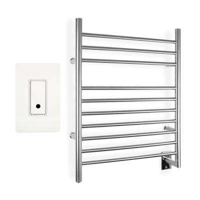 WarmlyYours Infinity 10-Bar Towel Warmer in Brushed Stainless Steel (Hardwired) with WeMo Wi-Fi Switch by Bar Towels