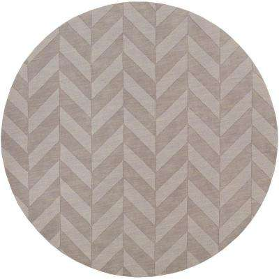 Central Park Carrie Gray 8 ft. x 8 ft. Round Indoor Area Rug