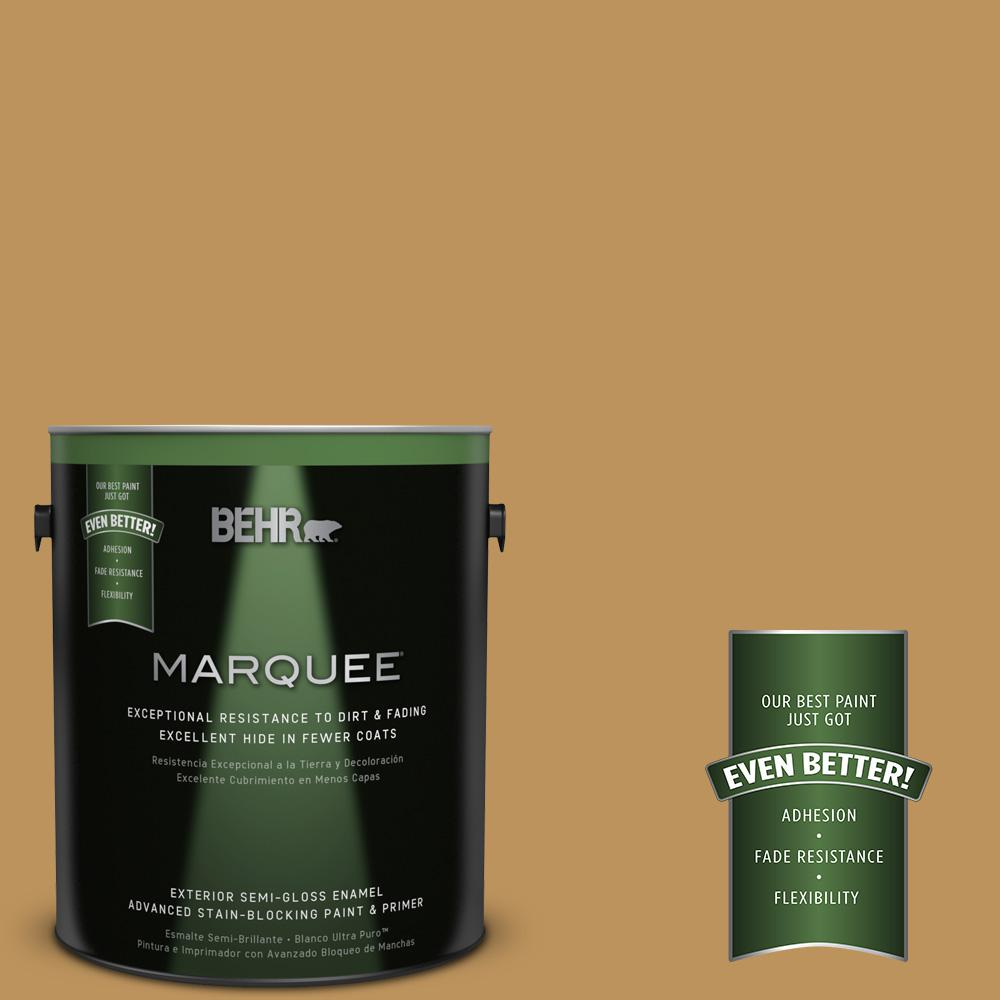 1-gal. #UL160-3 Gold Torch Semi-Gloss Enamel Exterior Paint