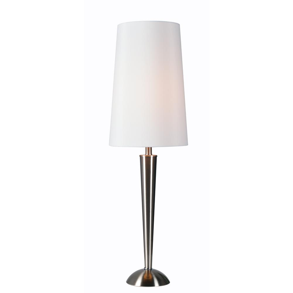 Kenroy Home Tee 28 In. Steel Table Lamp With White Shade