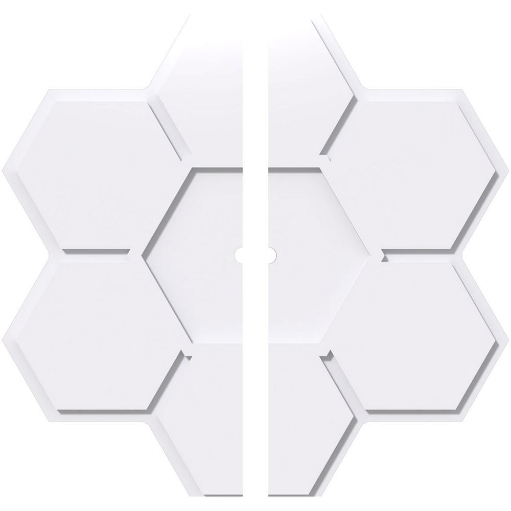 Ekena Millwork 1 in. P X 11-3/4 in. C X 34 in. OD X 1 in. ID Daisy Architectural Grade PVC Contemporary Ceiling Medallion, Two Piece