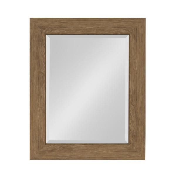 Boardwalk Rectangle Brown Mirror