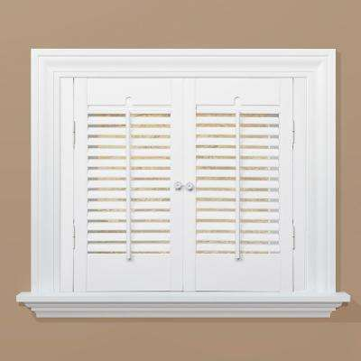 Snow 1-1/4 in. Traditional Real Wood Interior Shutter 23 to 25 in. W x 28 in. L