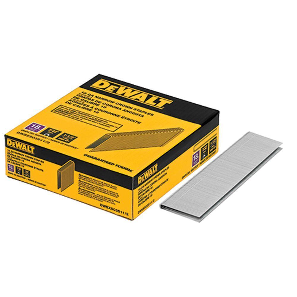 Dewalt 1-1/2 inch x 7/32 inch 18-Gauge Glue Collated Bright Steel Staples (3,000... by DEWALT