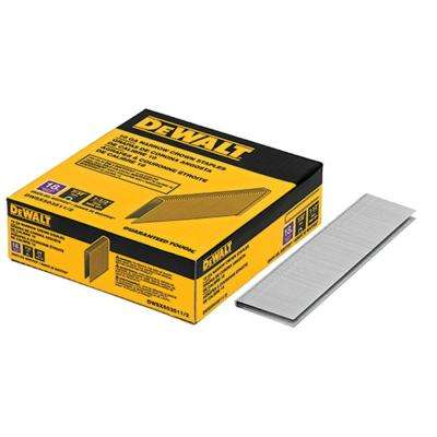 1-1/2 in. x 7/32 in. 18-Gauge Glue Collated Bright Steel Staples (3,000 per Box)