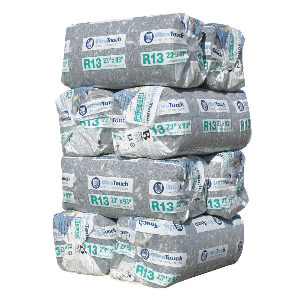 R-13 Denim Insulation Batts 23 in. x 93 in. (8-Bags)