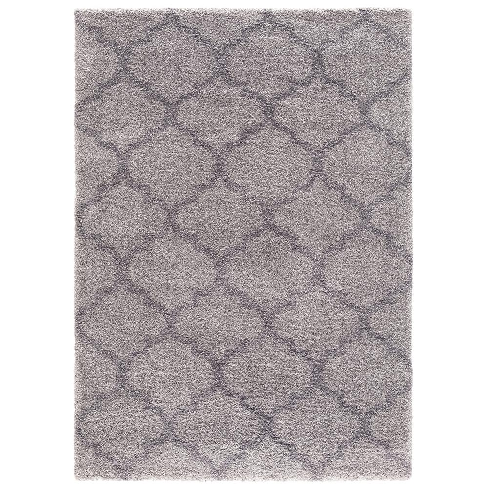 Concord Global Trading Plush Quatrefoil Gray 3 Ft X 5 Area Rug