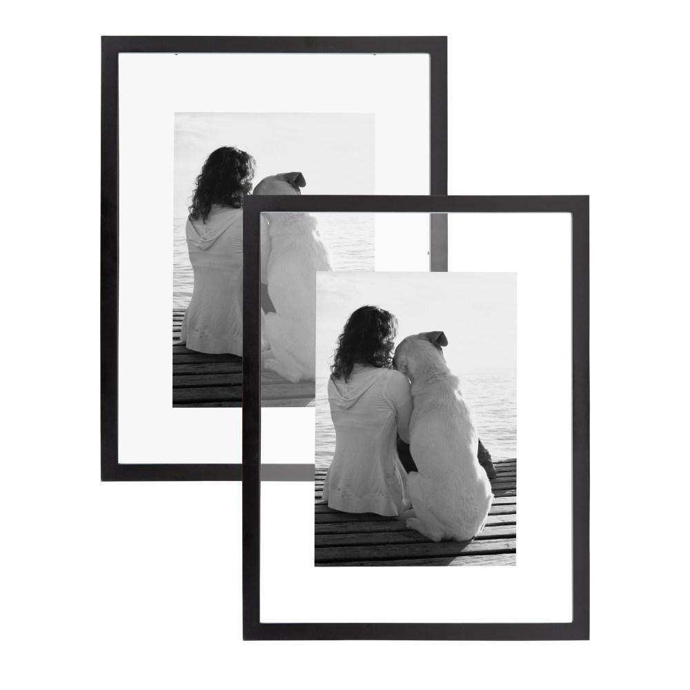 Gallery 14 in. x 18 in. Float Black Picture Frame (Set