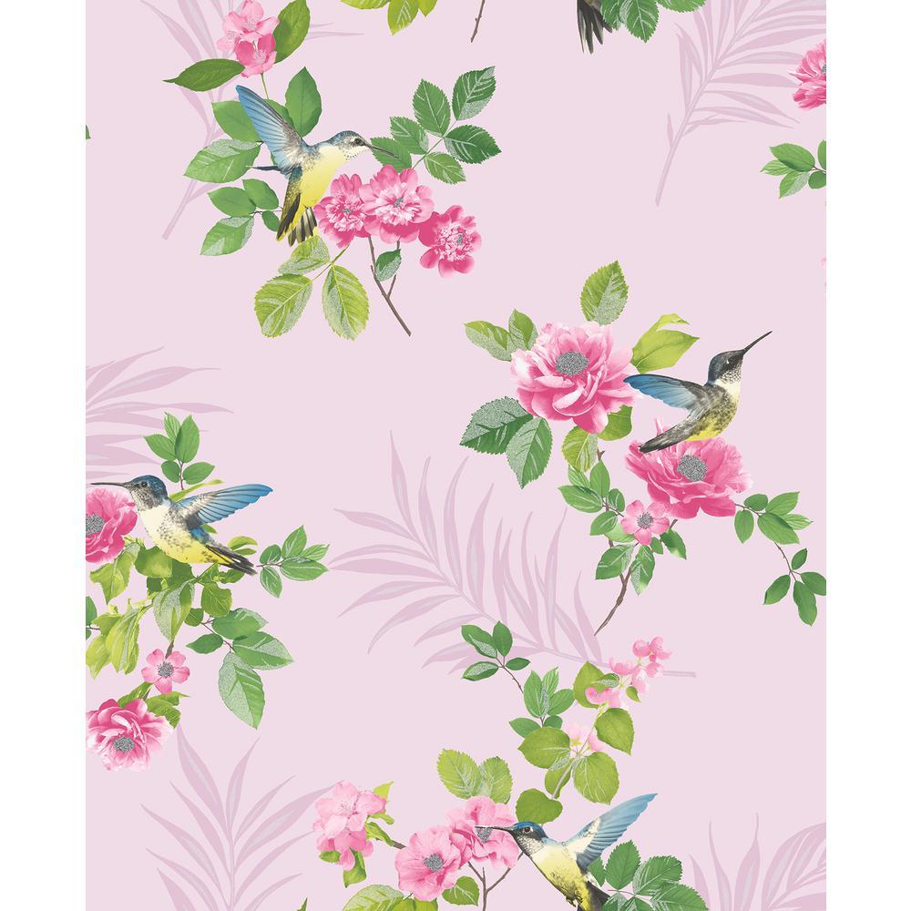Juniper Pink Botanical Wallpaper Sample