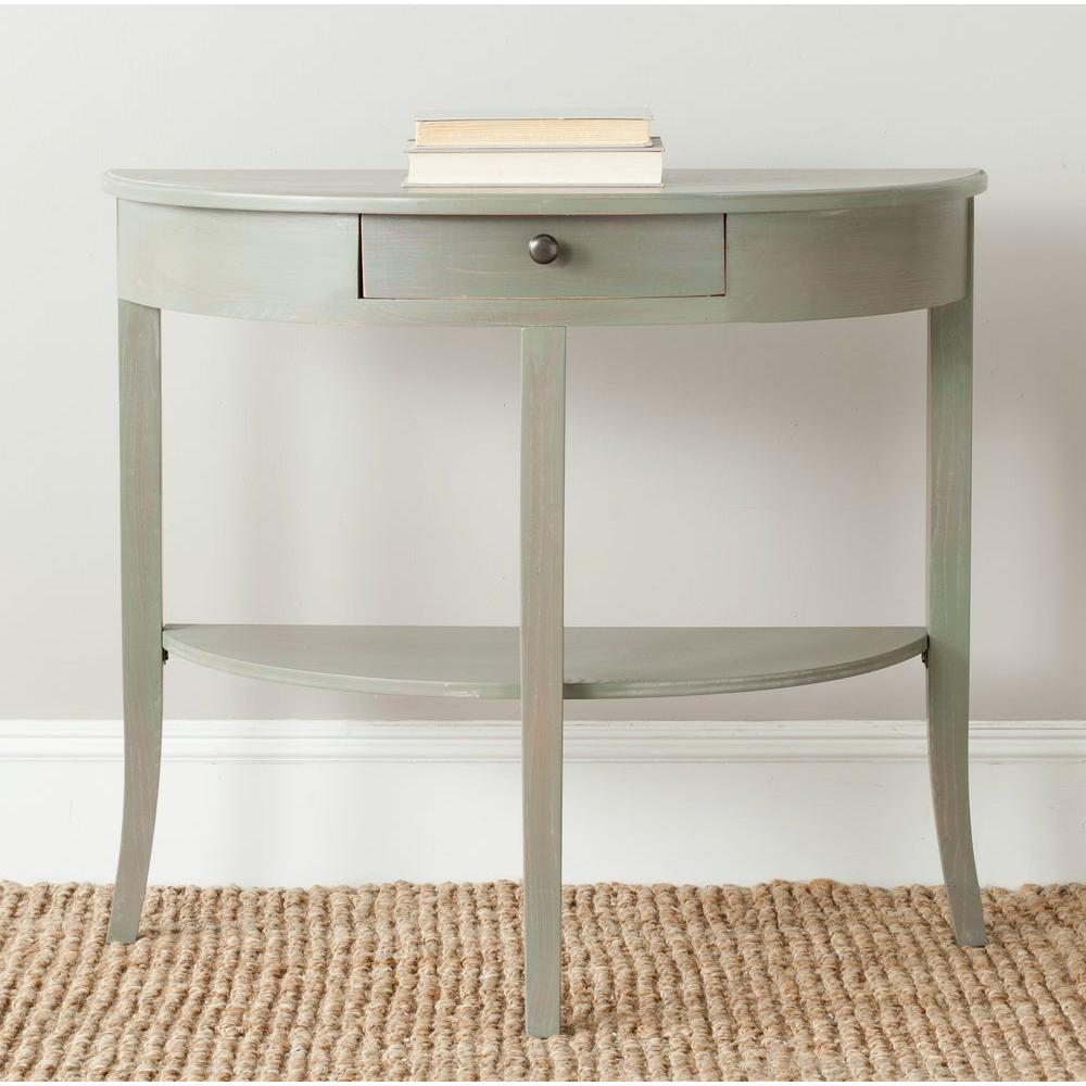 Alex French Grey Storage Console Table