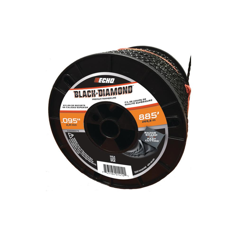 ECHO Black Diamond 0.095 in. x 885 ft. Medium Trimmer Line Spool