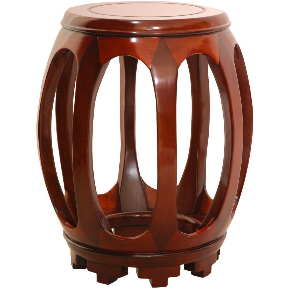 Oriental Furniture 11 in. Rosewood Circular Stand in Honey
