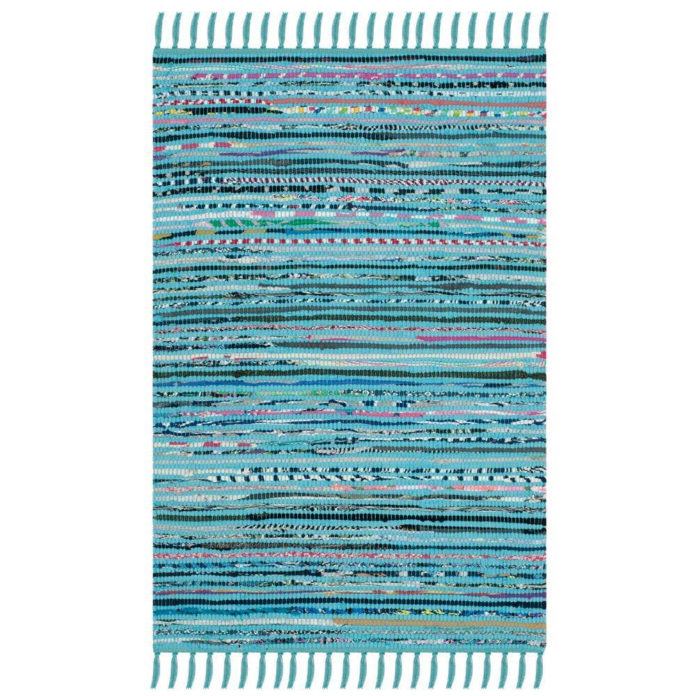 Safavieh Rag Rug Turquoise/Multi 3 ft. x 5 ft. Area Rug
