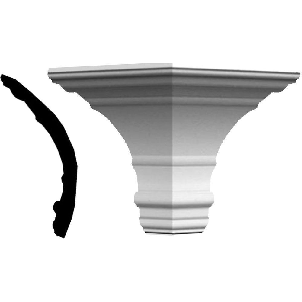 7 in. x 7 in. x 6-3/4 in. Polyurethane Crown Outside Corner Moulding
