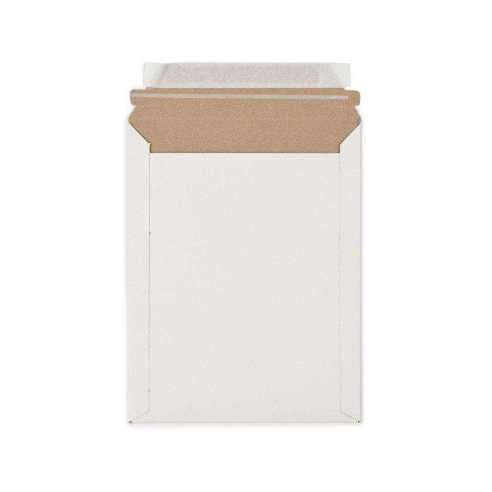 7 in. x 9 in. White Paperboard Stay Flat Mailers with