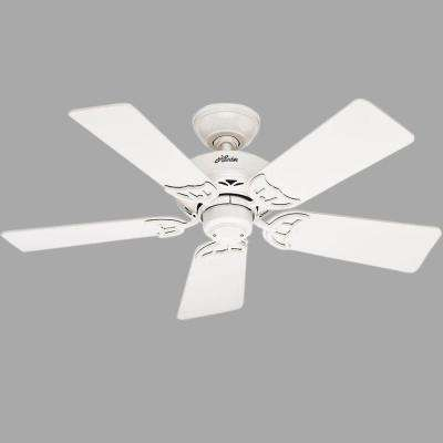 Hudson 42 in. Indoor White Ceiling Fan