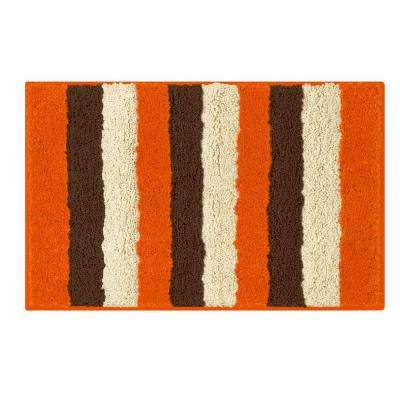 Radella Orange 18 in. x 30 in. Bath Rug