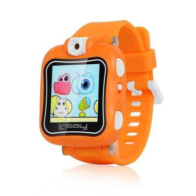 1.5 in. Kids Smartwatch 90-Degree Selfie Camera HD for Videos/Photos Learning Apps in Orange