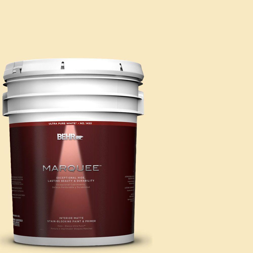 BEHR MARQUEE 5-gal. #T15-9 Dandelion Tea Matte Interior Paint