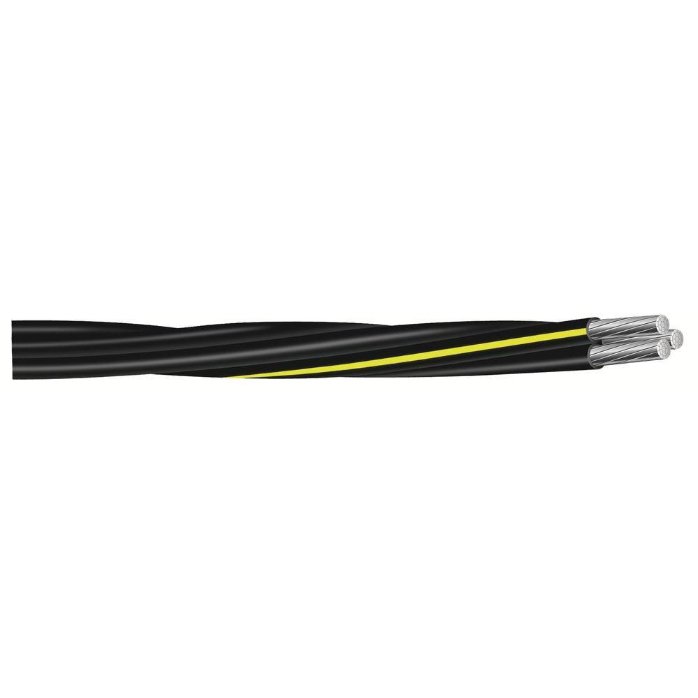 500 ft. 2/0-2/0-1 Black Stranded AL Converse URD Cable