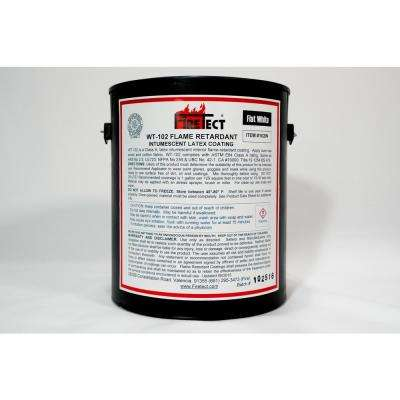 WT-102 1 gal. White Flat Latex Intumescent Fireproofing Flame Retardant Paint Coating for Wood
