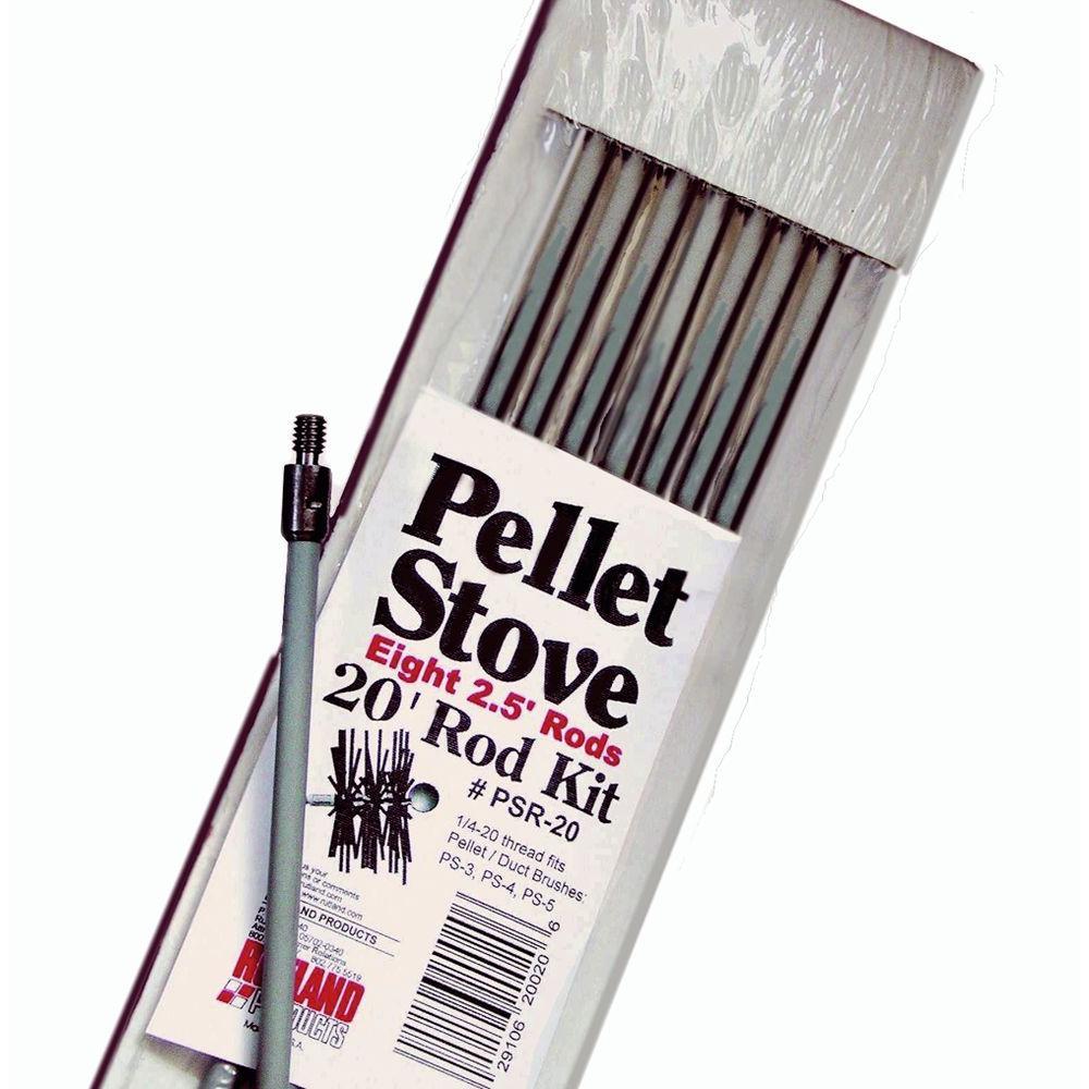 Rutland 20 ft. Pellet Stove Brush Extension Rod Kit by Rutland