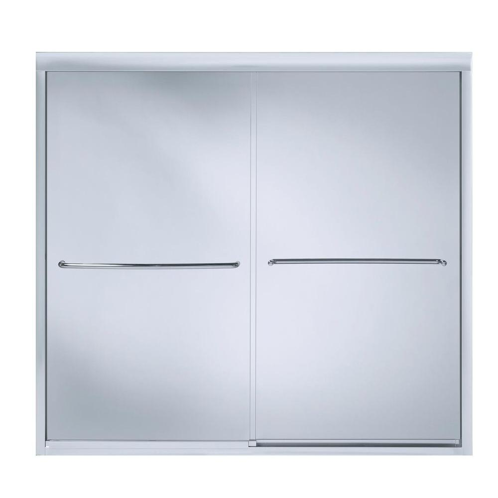KOHLER Fluence 59-5/8 in. x 55-3/4 in. Semi-Frameless Sliding ...