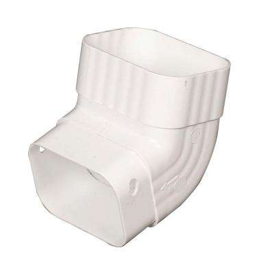 3 in. x 4 in. White Vinyl A-Elbow