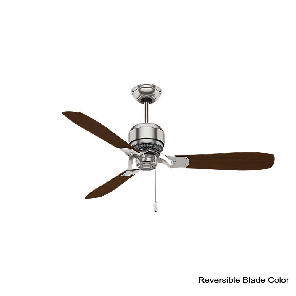 Indoor Brushed Nickel Ceiling Fan 59501