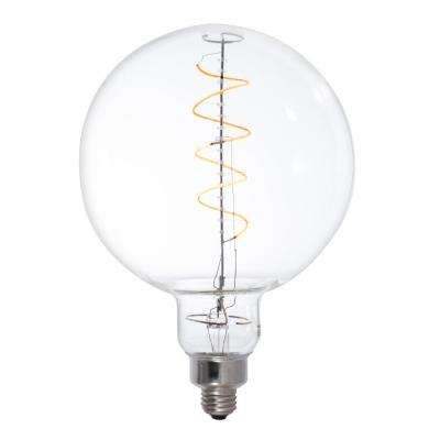 40W Equivalent Amber Light G63 Dimmable LED Grand Filament Globe Shaped Nostalgic Light Bulb
