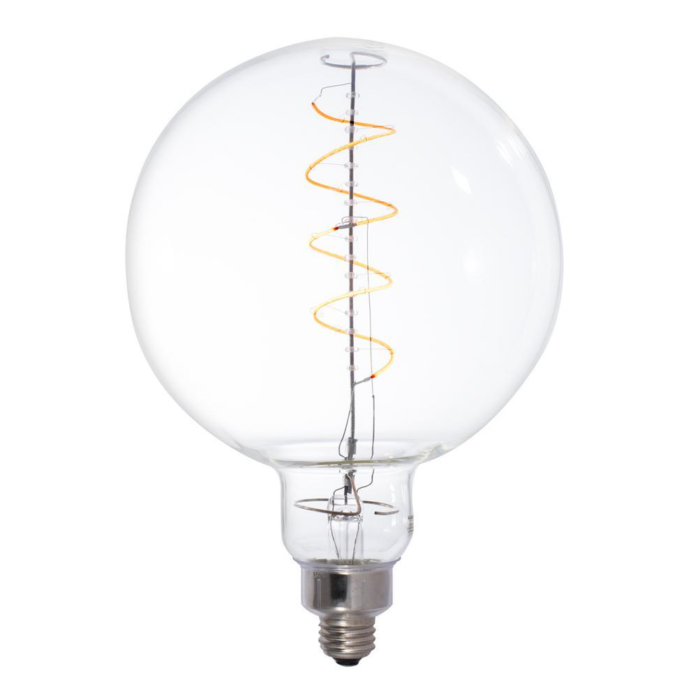 40W Equivalent Amber Light G63 Dimmable LED Grand Filament Globe Shaped Nostalgic Light Bulb